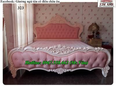 Top 20 bộ giường tủ gỗ tự nhiên phong cách tân cổ điển cực xinh 10
