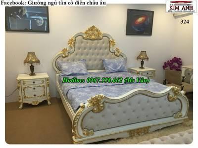 Top 20 bộ giường tủ gỗ tự nhiên phong cách tân cổ điển cực xinh 11