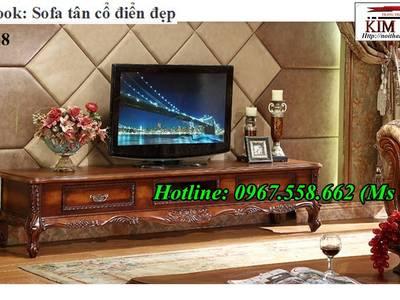 Top 20 mẫu kệ tivi kiểu cổ điển trang trí phòng khách đẹp 6