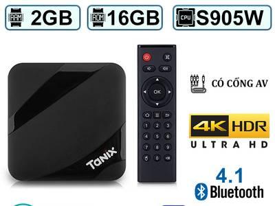 Android Tivi Box Tanix TX3 Max - Ram 2GB Rom 16GB - Chíp Lõi Tứ S905W  Bảo Hành 12 Tháng 0