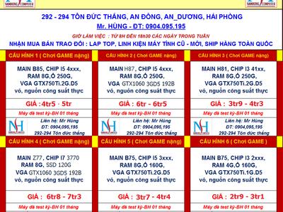 294.TÔN ĐỨC THẮNG. Case,Main.H61,945.G31.G41,AM2,AM3,Chip, Ram, HDD,Vga,nguồn CST 18