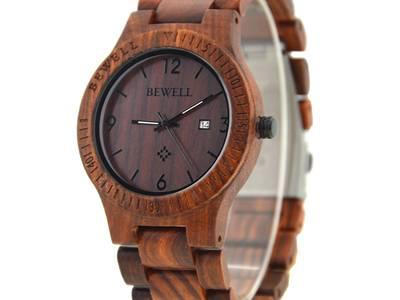Đồng hồ đeo tay gỗ đàn hương đỏ, Đồng hồ đeo tay bằng gỗ, Đồng hồ nam bằng gỗ 18