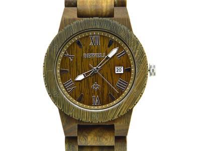 Đồng hồ đeo tay bằng gỗ cao cấp, Đồng hồ nam đeo tay bằng gỗ mun, Đồng hồ gỗ hương 5
