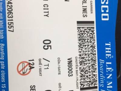 Bán cuống vé máy bay,boarding pass các hãng hàng không trong và ngoài nước 0