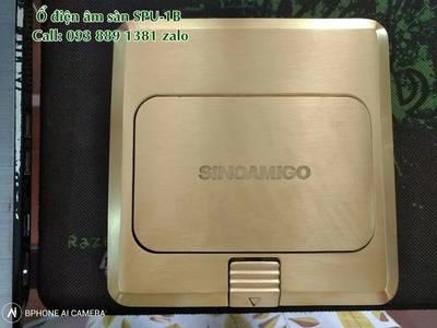 Phân phối ổ điện âm sàn, hộp ổ cắm điện âm bàn chính hãng Sinoamigo các model lắp 3 modules, 6 modul 3
