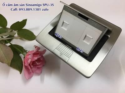 Phân phối ổ điện âm sàn, hộp ổ cắm điện âm bàn chính hãng Sinoamigo các model lắp 3 modules, 6 modul 5