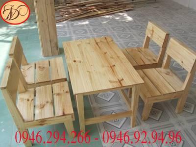 Bàn ghế tủ gỗ thông-gỗ công nghiệp 2