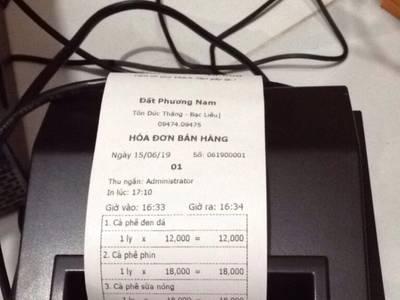 Thanh lý  trọn bộ combo thiết bị tính tiền dùng trong quán café  ở Bạc Liêu giá rẻ 0