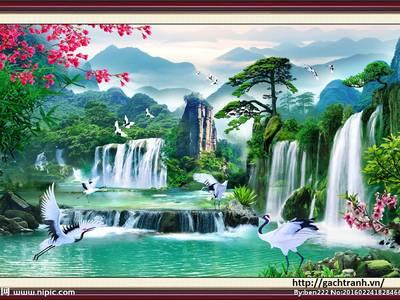 Tranh gạch 3d trang trí rẻ đẹp 2
