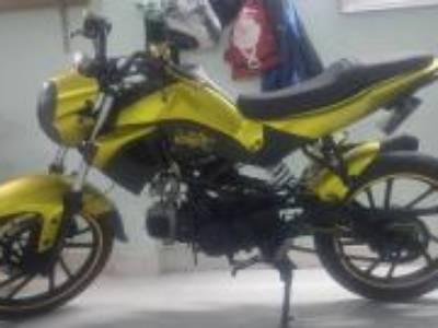 Kymco K-Pipe - Moto Cafe Racer vàng nhôm xước 0