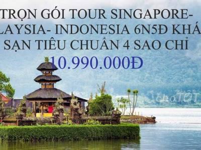 Combo tour singapore malaysia indonesia 6n5d ks 4s 0