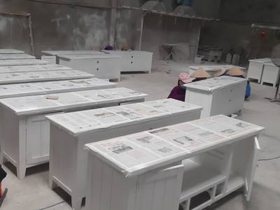 Tủ tivi gỗ màu trắng xuất khẩu còn dư 5