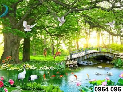 Phong cảnh vườn cấy 3d- gạch tranh 3d 8