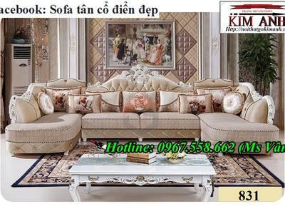 Những điểm hấp dẫn của bộ bàn ghế sofa gỗ tân cổ điển đặt đóng tại xưởng 6