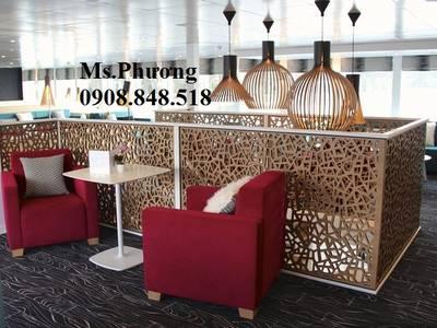 Mang lại vẻ đẹp hiện đại cho không gian nhà hàng, cửa hàng, quán cafe với thiết kế vách ngăn cnc đẹp 12