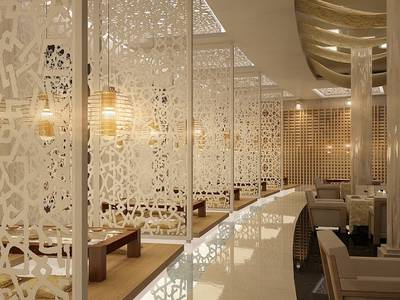 Mang lại vẻ đẹp hiện đại cho không gian nhà hàng, cửa hàng, quán cafe với thiết kế vách ngăn cnc đẹp 17