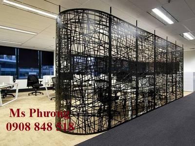 Vách ngăn hoa văn cnc trang trí không gian văn phòng làm việc hiện đại, sang trọng 14