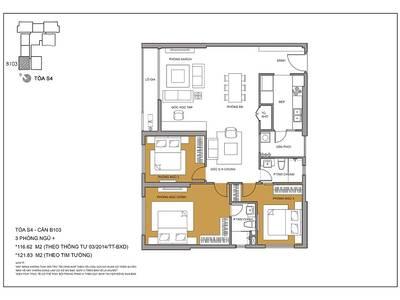 Cho thuê căn hộ 3PN view hồ Trung Văn tòa S4- Seasons Avenue. 11