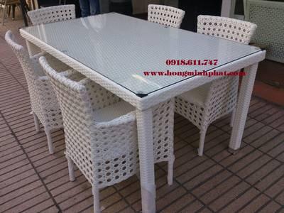 Bàn ghế nhà bếp, phòng ăn, ngoài trời Nhựa Giả Mây tại Quận Tân Phú,Tp.HCM 1
