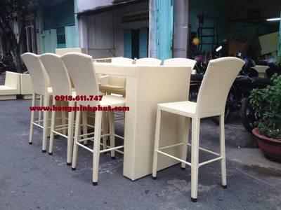 Bàn ghế nhà bếp, phòng ăn, ngoài trời Nhựa Giả Mây tại Quận Tân Phú,Tp.HCM 5