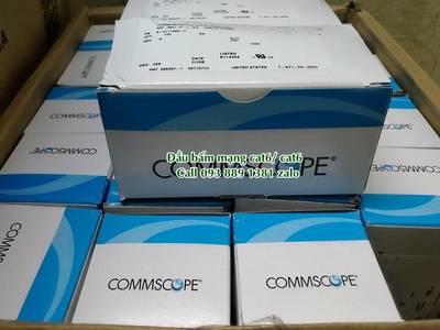 Phân phối Patch panel 24 cổng, 48 cổng Cat5/ cat6 Commscope. Đầu bấm mạng cat6 FPT, rệp nối mạng 5
