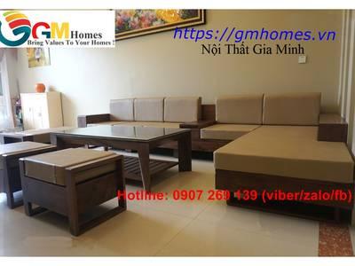 Sofa gỗ cao cấp   mẫu bàn ghế sofa gỗ đẹp. Nội Thất GMHOMES 6