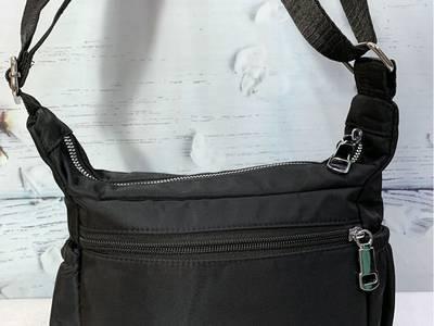 Túi đeo chéo loại ngang màu đen trơn thời trang TDC0011 1