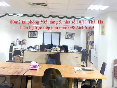 45 và 82m2 văn phòng cho thuê tại phố Thái Hà. LH trực tiếp chủ nhà: 0986 646 169 6