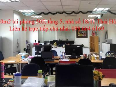 45 và 82m2 văn phòng cho thuê tại phố Thái Hà. LH trực tiếp chủ nhà: 0986 646 169 9
