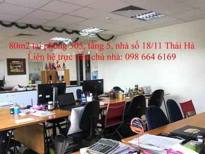 45 và 82m2 văn phòng cho thuê tại phố Thái Hà. LH trực tiếp chủ nhà: 0986 646 169 10