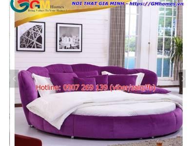 Giường tròn sành điệu, giá giường tròn tại Nội Thất Gia Minh 3