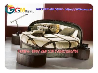 Giường tròn sành điệu, giá giường tròn tại Nội Thất Gia Minh 13