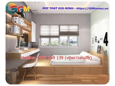 Bộ giường ngủ hiện đại. Nội Thất GMHOMES 13