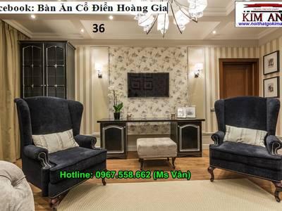 Tuyển chọn những mẫu bàn ghế phòng ngủ tân cổ điển đẹp 2