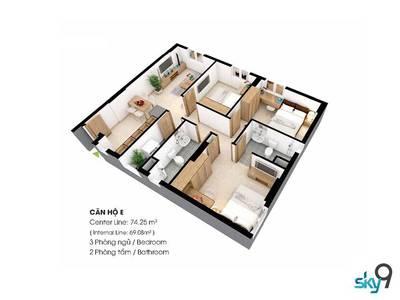 Bán căn hộ chung cư SKY 9 giá siêu rẻ chỉ duy nhất ngày hôm nay 1