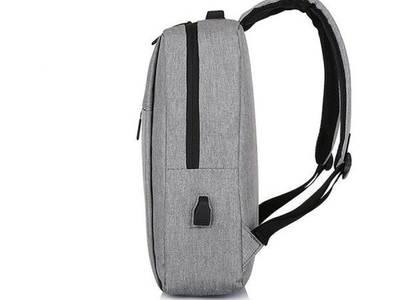 Ba lô laptop hình chữ nhật màu xám ghi thời trang Hàn Quốc BALO0017 2