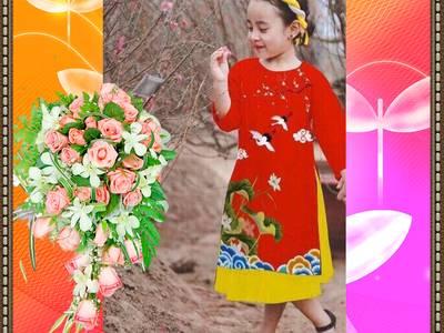 Chuyên sàn xuất-cung cấp sỉ áo dài truyền thống, áo dài cách tân Trẻ em 5