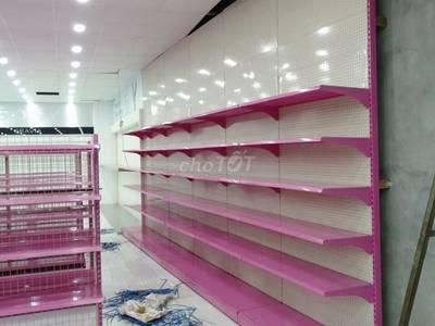 Kệ trưng bày đồ điện, đồ gia dụng màu trắng hồng 0