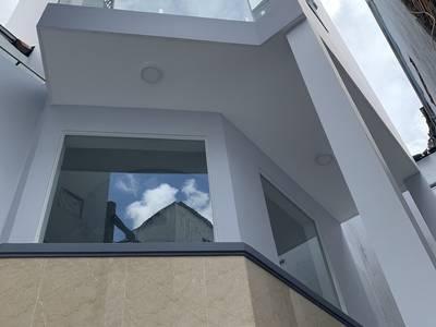 Bán nhà mới 4 tấm, hẻm 3m 686 cmt8, f5, q.tân bình. dt: 5x12m. 8,5...