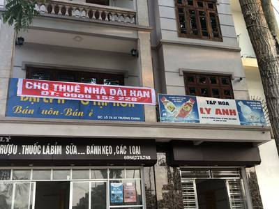 Cho thuê căn hộ 4 tầng đường Trường Chinh , Hải Dương 10 m mặt lâu dài 4