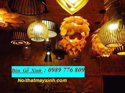 Những mẫu đèn gỗ đẹp cho quan cafe 10
