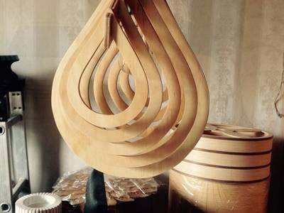 Những mẫu đèn gỗ đẹp cho quan cafe 14