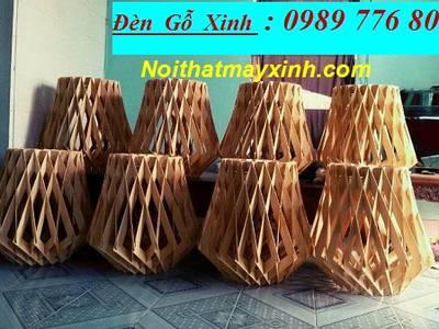 Những mẫu đèn gỗ đẹp cho quan cafe 16