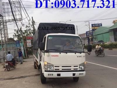 Xe tải VM 1T9. Xe tải VM 1t9 Euro 4. Xe tải Isuzu VM 1T9 thùng dài 6m2 NK490SL 1