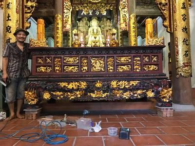 Cơ sở hùng vũ chuyên sơn son thếp vàng ,đồ thờ tượng phật 6