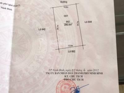 Chính chủ bán đất ở thuộc khu quảng trường 2, TP Ninh Bình 0