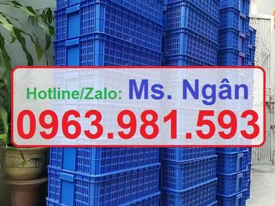 Sọt nhựa rỗng HS009, sóng nhựa hở HS009 giá rẻ tại Hà Nội, sóng nhựa rỗng HS009, sọt nhựa cao 19 cm, 2