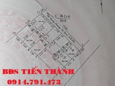 Bán đất Cự Khối- LB-HN dt46m, Mt 4m, Hướng ĐB, ô tô cách nhà 10m 0