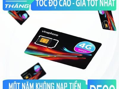 Sim4G Vinaphone D500 5gb/1 tháng/1 năm 0