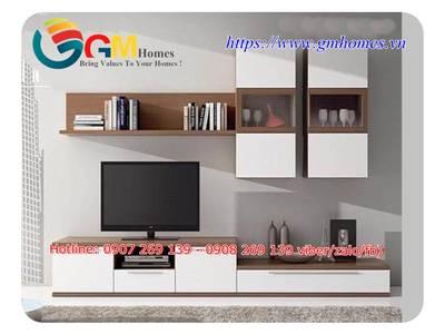 Mẫu kệ tủ tivi đẹp sang trọng cho phòng khách chung cư